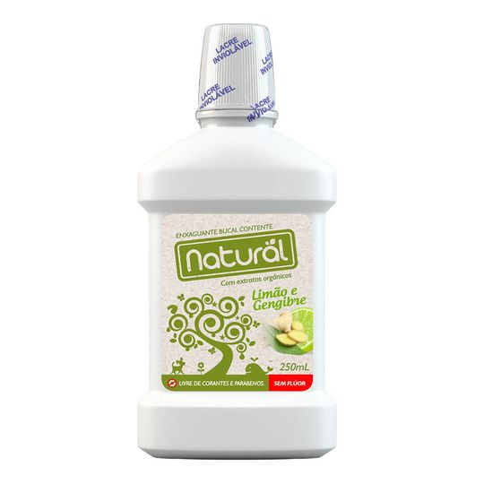 Enxaguante Bucal Natural Com Ingredientes Orgânicos - Orgânico Natural