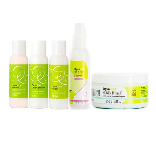 kit-no-poo-one-condition-angell-set-it-free-120ml-heaven-250gr-devacurl