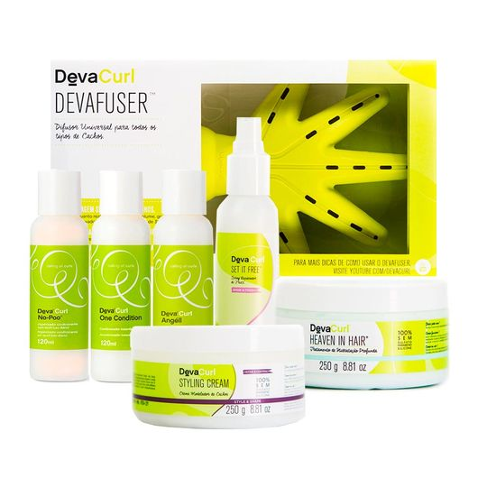 kit-no-poo-one-condition-angell-set-it-free-120ml-heaven-styling-250gr-devafuser-devacurl
